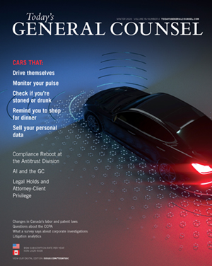 Todays General Counsel Spring 2018